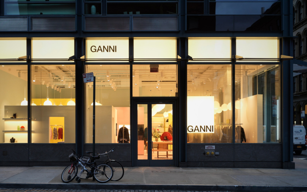 ganni sustainable store