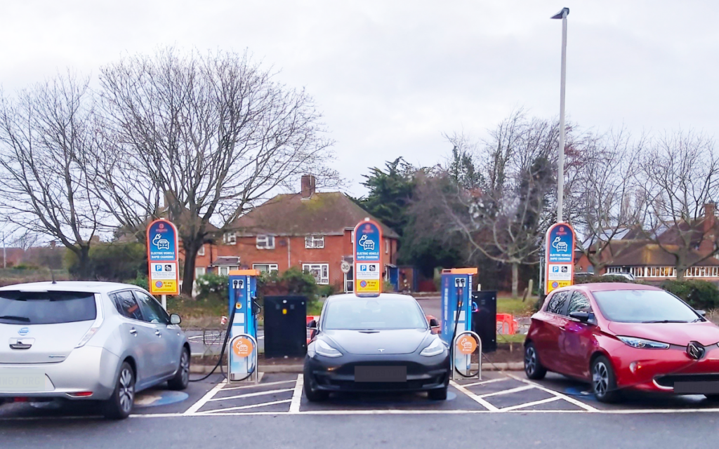 engenie electric vehicle charging points in retail parks