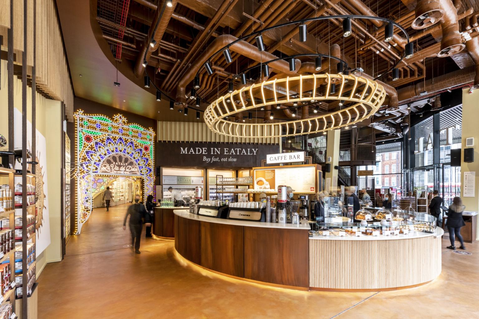 Italian Food Hall Eataly opens in Broadgate